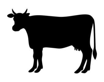 Cow Stencil Primitive Rustic Farmhouse Decor Dixie Belle