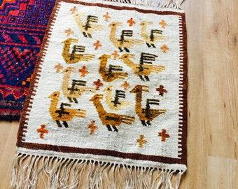 Vintage kilim | kilim | polish kilim | handknotted rug | small kilim rug | small rug| wandkleed | vintage wallhanger | 60s | muurdecoratie