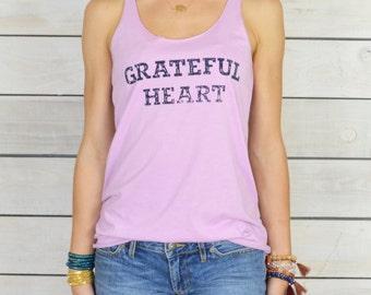 Grateful Heart  ~  Lilac Racer Back Tank