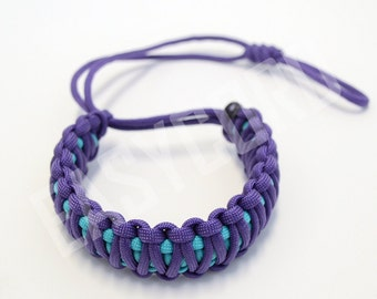 EASYCORD Camera Wrist Strap Purple and Turquoise