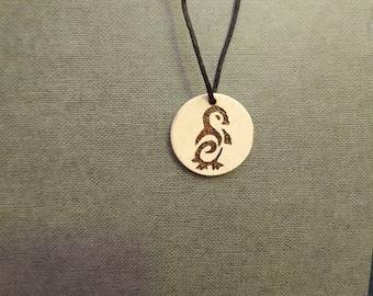 Penguin Wooden necklace