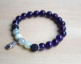 Calming Bracelets / meditation bracelets, spiritual mom gift for yoga mom, spiritual woman gift, new age spirituality tool, amethyst,group 2