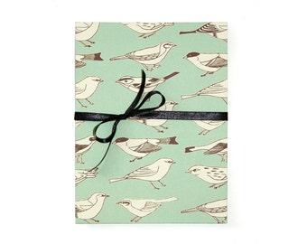 leporello photo album birds