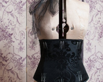 """32"""" Flossed Damask Corset"""
