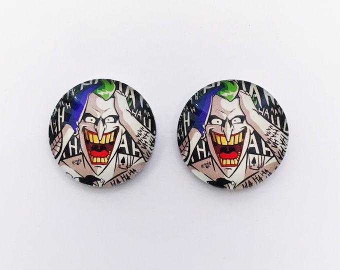 The 'Joker' Glass Earring Studs