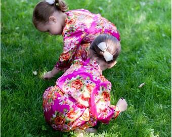 Silk Flower Girl Robe