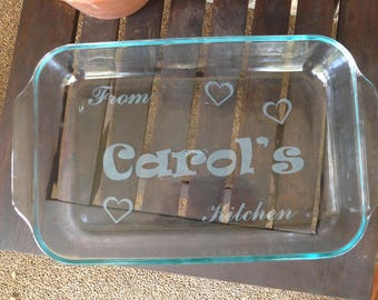 Casserole Glass Dish - Laser Engraved