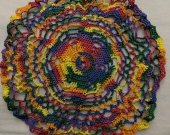 Rainbow Flower Doily
