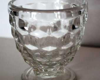 Fostoria AMERICAN Pattern Vintage Whiskey Footed SHOT GLASS - Crystal Color