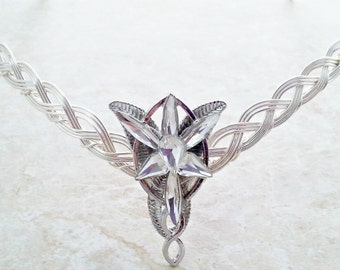 Elven Star  Celtic Weave Circlet Crown Tiara in silver.