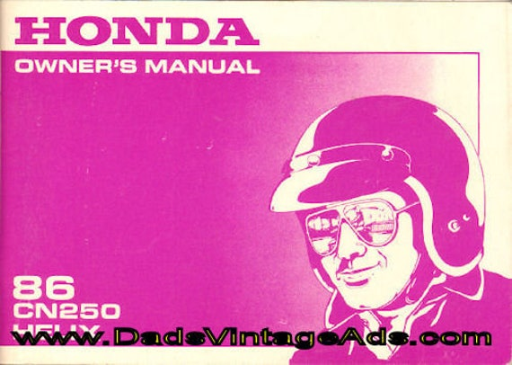 1986 Honda CN250 Helix Scooter Owner's Manual #mm110