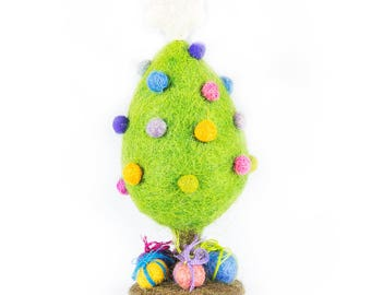 Christmas Tree - Needle felted Ornaments - Christmas - Wool felt - Xmas Tree Decorations- Merino -Ethical-Handmade