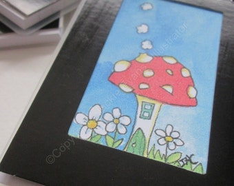 Toadstool House Notebook. Pocket Notebook. Small Notebook. Cute. Toadstool. House. Notepad