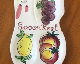 Vintage 1950's Spoon Rest