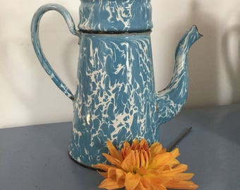 Enamel coffee pot vintage
