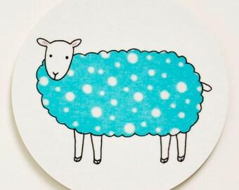 Sheep Coaster - Blue