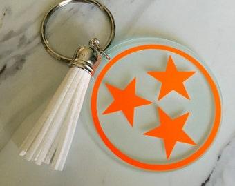 Tri-Star Keychain with Tassel