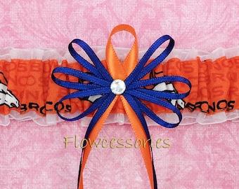 Pick Charm - DENVER BRONCOS handmade bridal wedding garter - toss