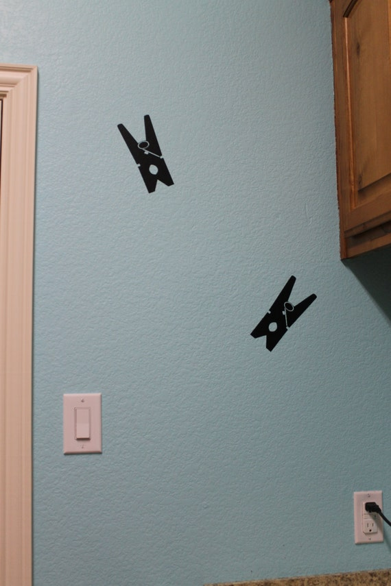 Clothes pin decals, clothes pin decal, Laundry room decals, laundry room decal, Laundry decor, Laundry decal