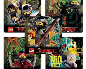 "25 Lego Ninjago Stickers, 2.5"" x 2.5"" Each"