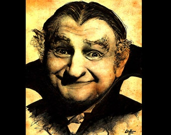 "Print 8x10"" - Grandpa Munster - The Munsters Dracula Horror Vintage Science Fiction Sci Fi Al Lewis Gothic Frankenstein Pop Art Comedy"