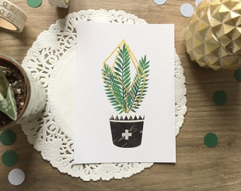 Grow, Scandinavian trend card
