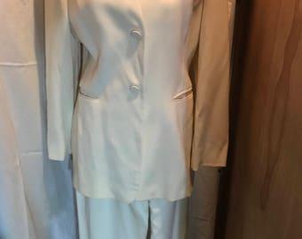Georgio Armani creme power suit 1990