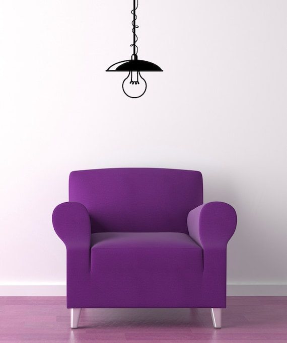 Hanging Lamp Wall Sticker: Hanging Lighting Light Fixture Vinyl Decal Home Decor Wall