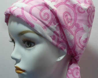Womens Pink Cancer Awareness Buttterflies Hair Loss Cancer Hat Chemo Scarf Cap Head Wrap Alopecia Turban Headcovering Bad Hair Day