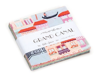 SPRING SALE - Charm Pack - Grand Canal - Kate Spain for Moda Fabric