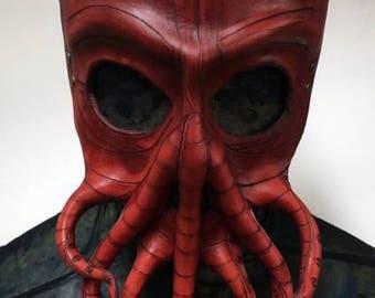 Red Cthulhu mask leather cthulhu mask