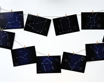"""Set of 12 Photo Note Cards """"Sweet Zodiac"""". Note Card. Photo Card."""