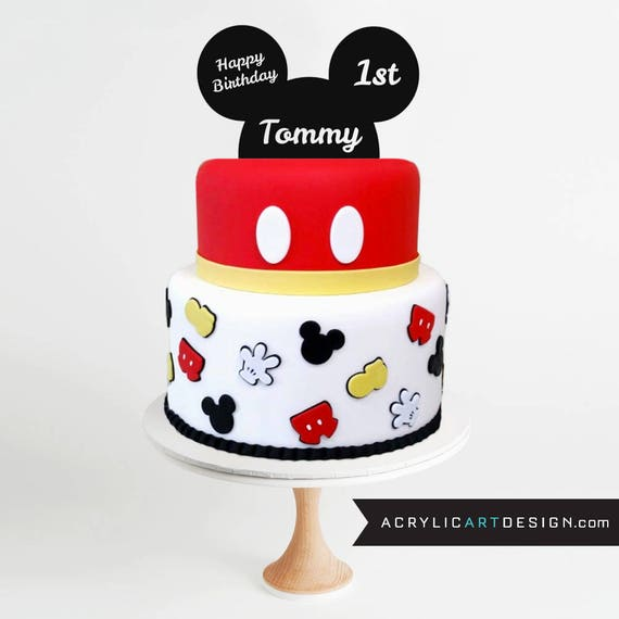 Mickey Mouse Cake Topper First Birthday Mickey Ears Mickey Mouse