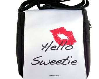 Doctor River Song Who Hello Sweetie Medium Messenger Bag