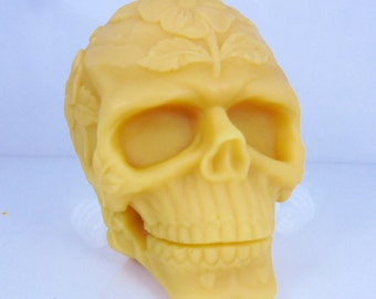 3d Natural Beeswax Skeleton Head Candle