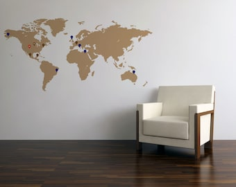 World map wall decal etsy world map wall decal gumiabroncs Images