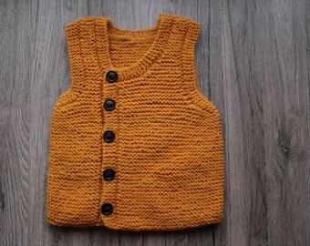 Mustard Yellow Waistcoat