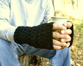 Fingerless Gloves Chunky Crochet Hand Warmers More Color Options
