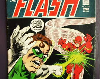 DC Comics The FLASH #222 Green Lantern FN 6.0 - 1973