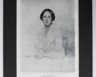John Bostock Print of a Portrait of a Young Woman British art print, 19th century decor - Available Framed - English Picture - Gift For Her