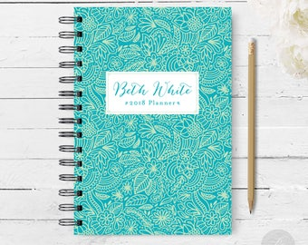 2018 Monthly Planner #11 - Hardcover - Coil Bound - Tabbed - Weekly Planner - Daily Planner