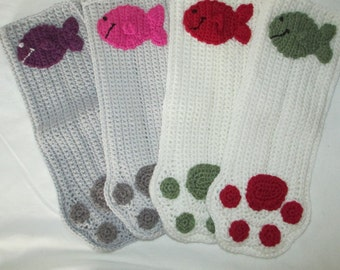 Crochet Cat Stocking, Cat Stocking, Cat Holiday Stocking, Cat Paw Stocking, Cat Paw Holiday Decor, Custom Stocking, Paw Stocking, Cat Gift