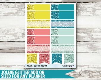 Jolene Glitter Functional Planner Stickers