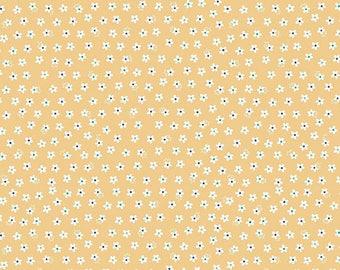 Riley Blake Calico Days; Daisy Yellow by Lori Holt; Bee in My Bonnet; 1/2 yard woven cotton fabric; LAST 1/2 YARD!