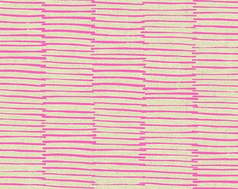 Maker Maker Linen LINES PINK by Sarah Golden for Andover Fabrics - 1/2 yard