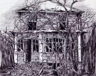 Print Abandoned House
