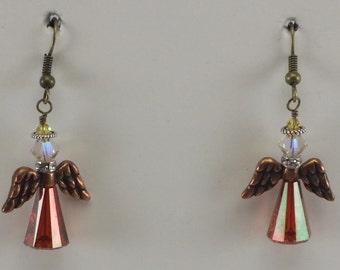 Angel Earrings, Swarovski Crystal Earrings, Christmas Earrings
