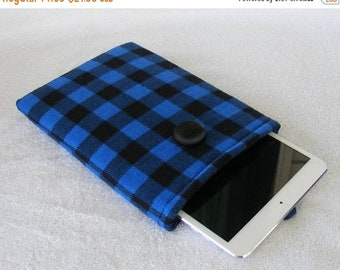 On Sale Now Buffalo Plaid, IPad Mini Case, Kindle Fire Case, IPad Mini Cover, Kindle Fire HDX Cover, Nook HD Cover, Small Tablet Cover, 8 1/