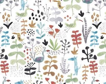 waterbird - bird pattern / 20s Cotton fabric