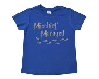 Mischief Managed Shirt - Kids Shirt - I Solemnly Swear That I Am Up to No Good - Girls Shirt - Boys Shirt - Gift for Kids - Kids Tshirt